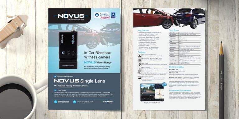 Novus leaflet - Design Example
