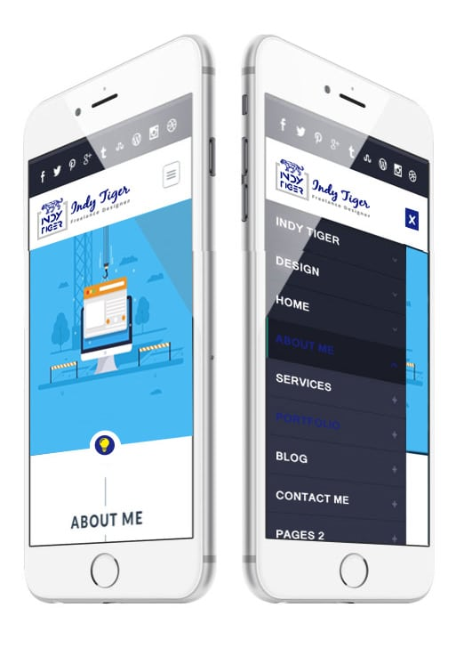 iPhone website example