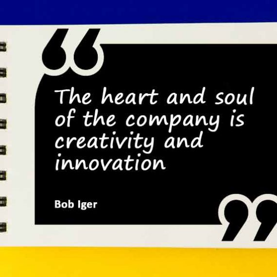 The heart and soul of the company is creativity and innovation