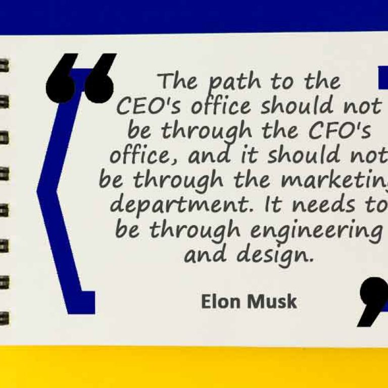 The path to the CEO's office should not be through the CFO's office, and it should not be through the marketing department. It needs to be through engineering and design.